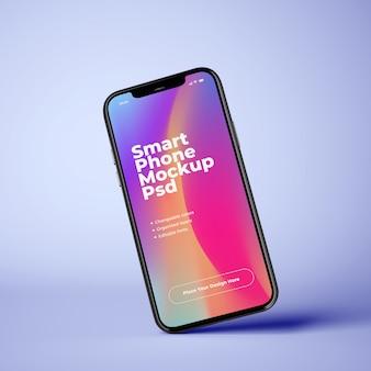 Красочный макет мобильного телефона