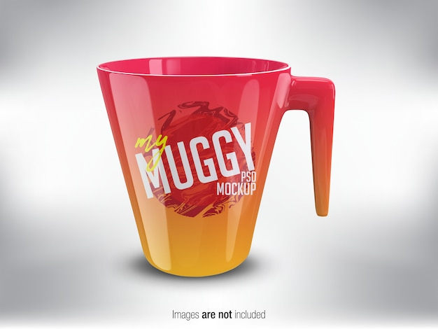 Colorful mug psd mock-up