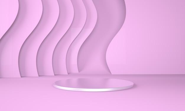 Colorful pedestal for display in 3d rendering