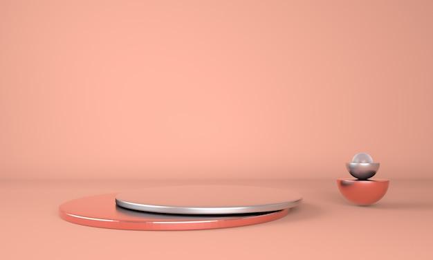 Красочный постамент для отображения в 3d-рендеринге