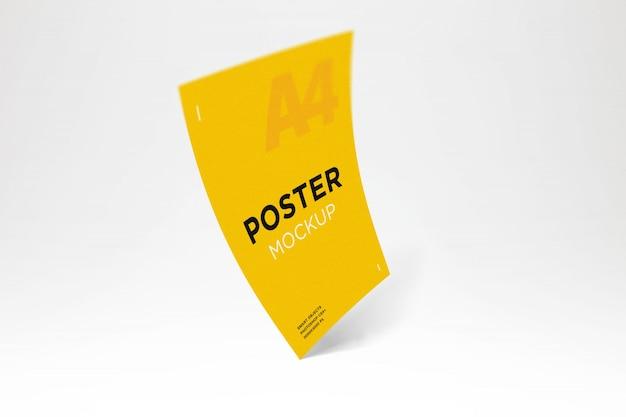 Colorful poster mockup Premium Psd