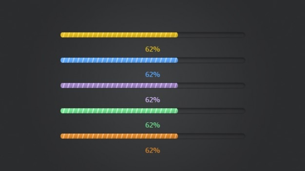 Colorful progress bar psd material