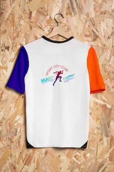 Colorful shirt concept mock-up