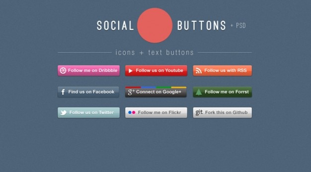 Colorful social networking buttons icons