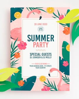 Colorful summer concept mock-up