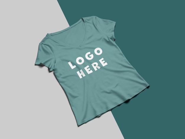 화려한 티셔츠 앞면 모형 디자인