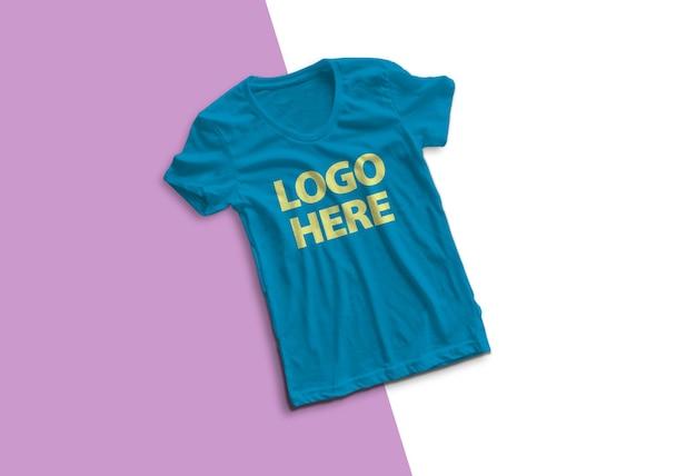 고립 된 화려한 티셔츠 모형 디자인