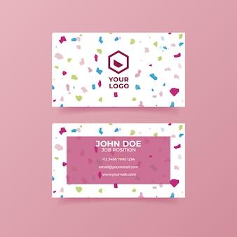 Colorful terrazzo business card
