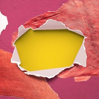 Colorful torn paper mockup design