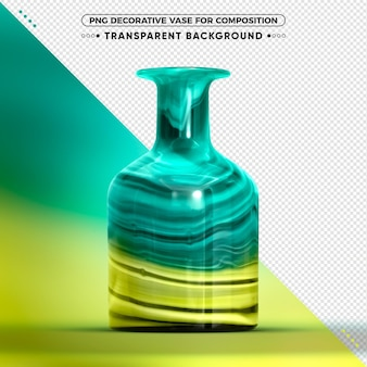 Colorful vase isolated