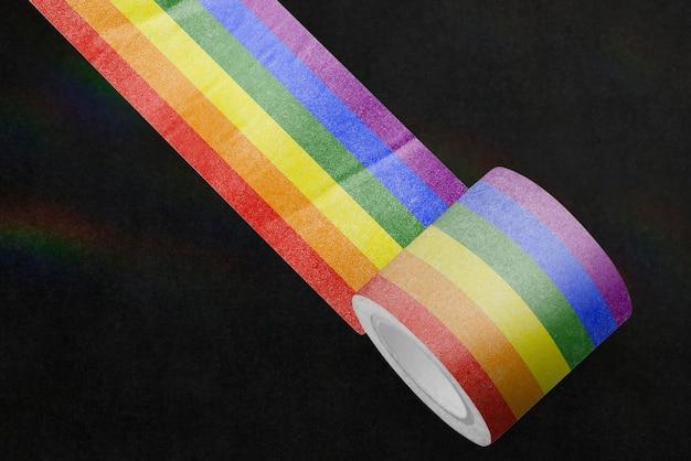 芸術品や工芸品のためのカラフルな和紙テープモックアップpsd