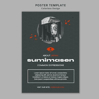 Colorless design poster template