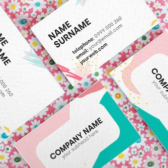 Colors business card mock up