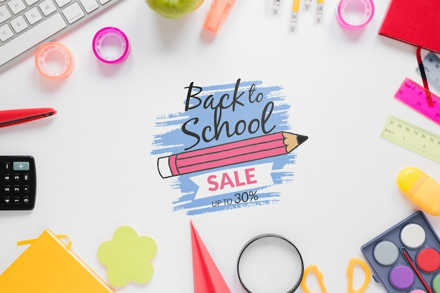 Colourful supplies for back to school
