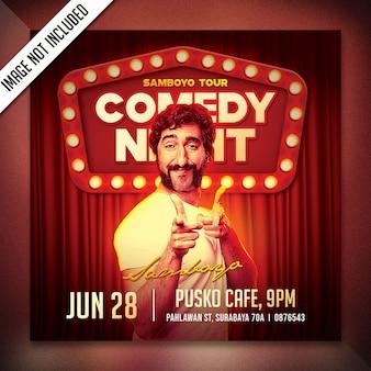Comedy night flyer template sweatshirt