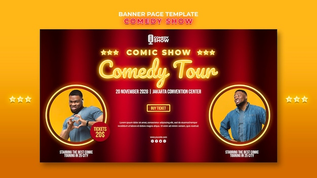 Comedy show template banner