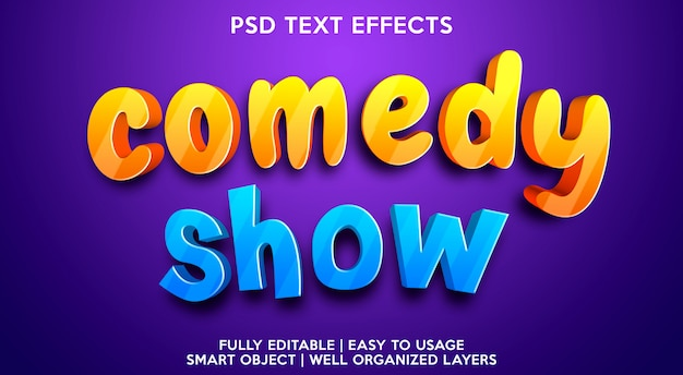 Comedy show text effect template