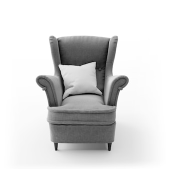 Comfortable modern chair isolated