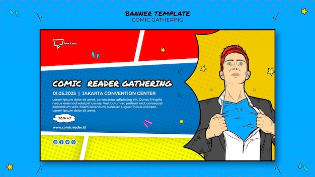 Comic banner template theme