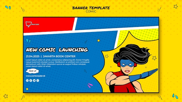 Comic banner template