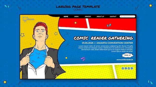 Pagina di destinazione di fumetti