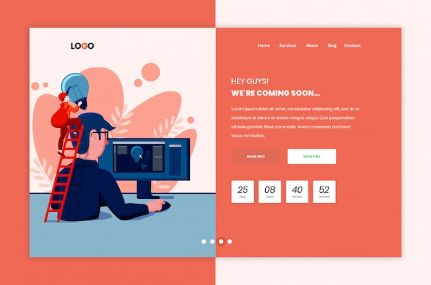 Coming soon template page design