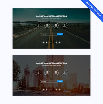 Coming soon webpage template