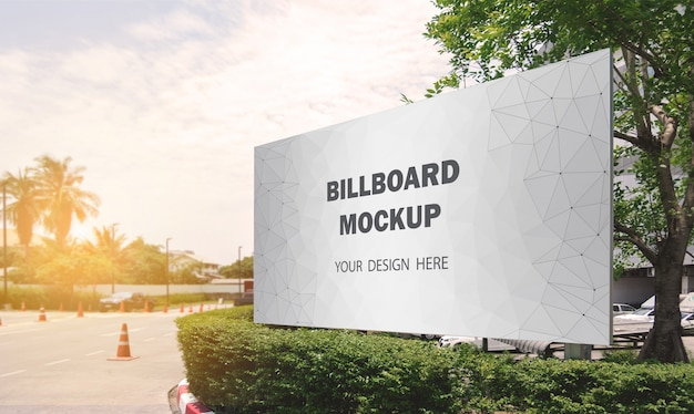 Commercial billboard mockup display outdoor