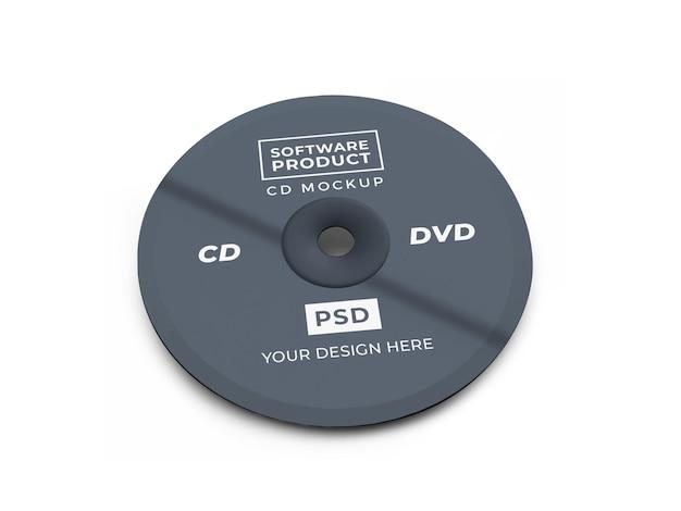 コンパクトディスクcd3dモックアップデザイン
