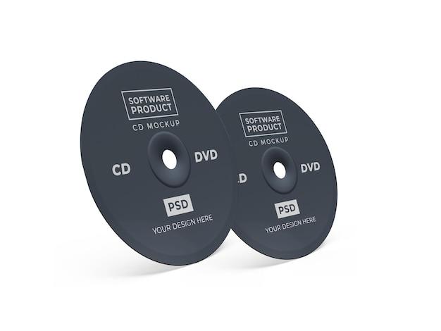 Компакт-диск cd 3d mockup