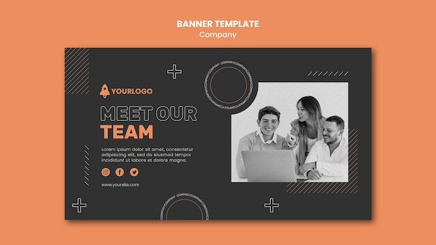 Company banner template