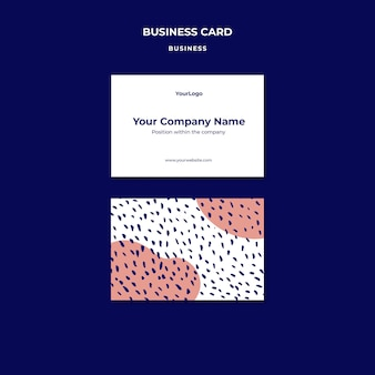 Шаблон визитной карточки компании