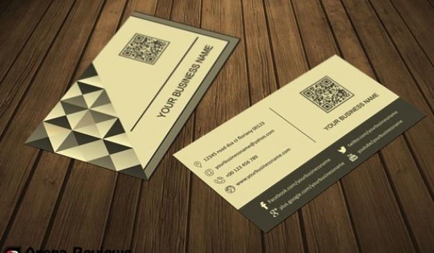 Company card template psd