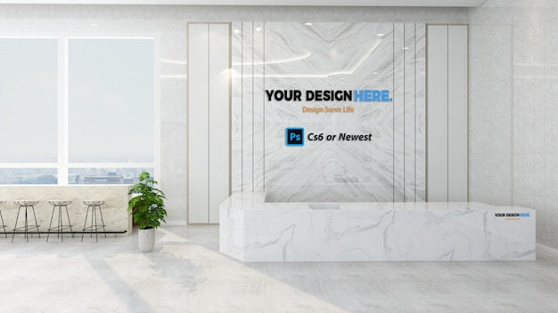 Company front desk mockup