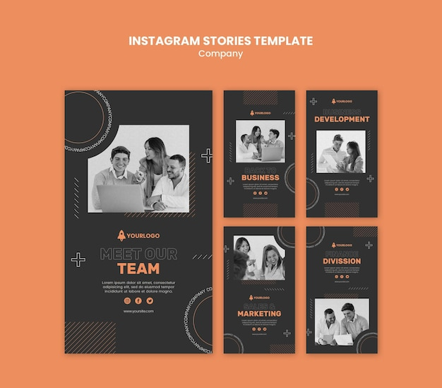 Company instagram stories template
