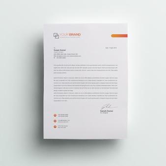 Company professional letterhead
