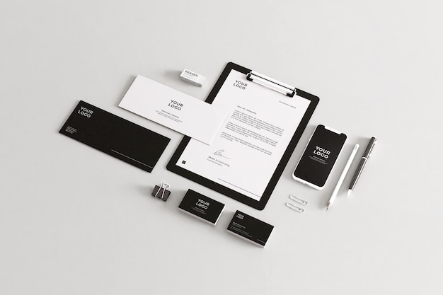 Company stationery mockup