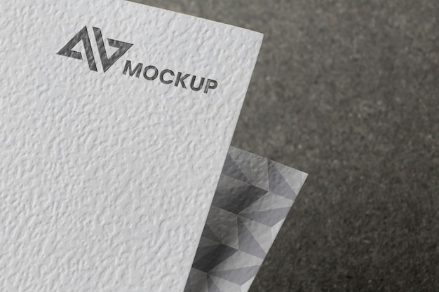 Composition of branding mock-up on card