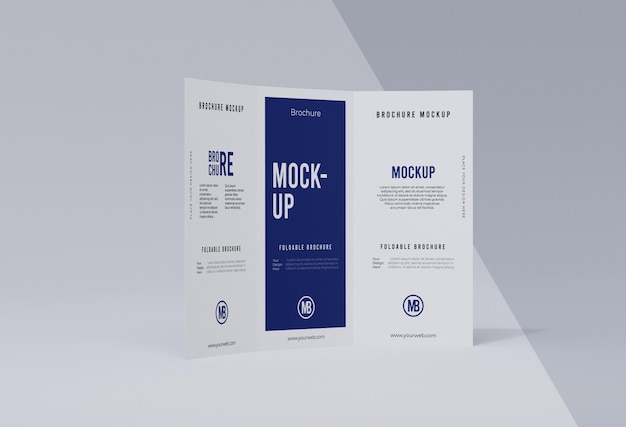Composition of brochure mock-up isolated on white