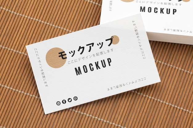 Composition of business visiting card