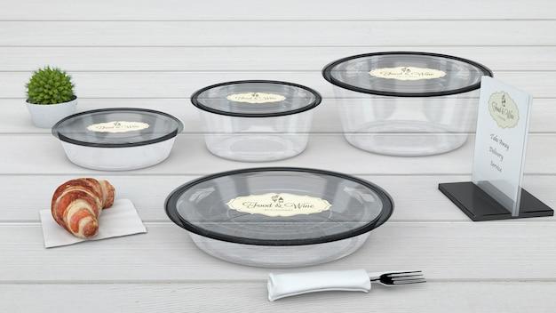 Composition of casserole mockups