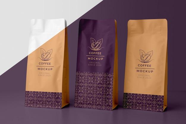 Composizione di elementi di caffetteria mock-up