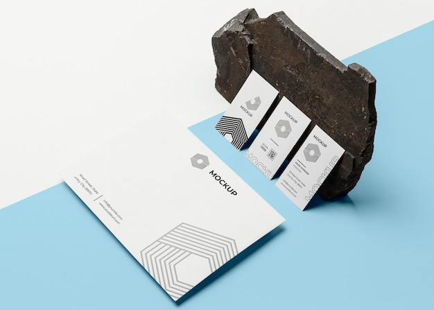 Composition of mock-up brand stationery