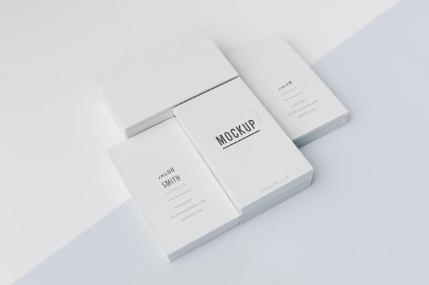 Composition of mock-up business card