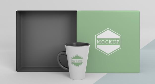 Composition of mock-up mug box