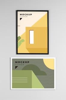 Composition of modern mock-up frames
