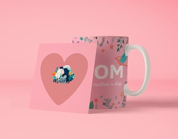 Composition for mother's day with card