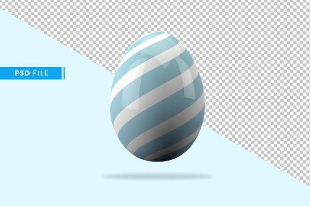 3d 부활절 달걀의 구성 프리미엄 PSD 파일