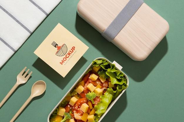 モックアップカード付きお弁当箱の構成