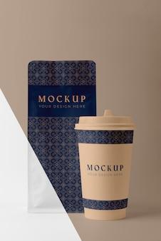 Состав макета чашки кофейни